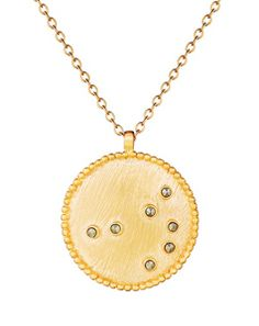 Gold Pyrite Constellation Necklace by Satya Jewelry