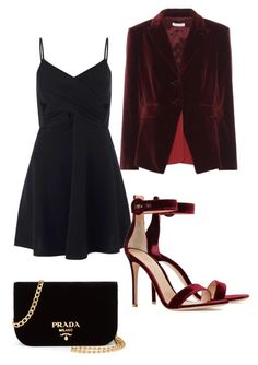 """Plus Size Date Night Outfit"" by babytrell on Polyvore featuring Miss Selfridge, Gianvito Rossi, Altuzarra and Prada"