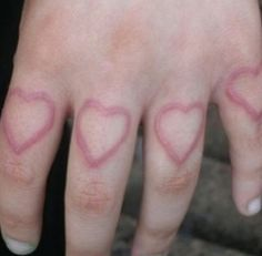 heart, hand, and pale