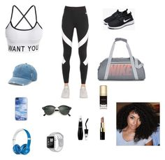 """Untitled #468"" by azharkrymova-1 on Polyvore featuring NIKE, Mudd, Beats by Dr. Dre, Ray-Ban, Bobbi Brown Cosmetics and Dolce&Gabbana"