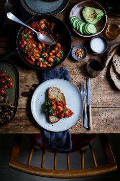 Passata beans on toast