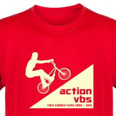 Action VBS Shirt for G-Force Adventure Park - Custom VBS T-Shirt (Available in 40+ Shirt Colors) #GForceVBS #VBSTShirt #VBS