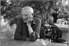 """Martine Franck (1938-2012) Henri Cartier-Bresson (1908-2004) at """"La combe de Lourmarin"""" France 1996"""
