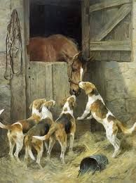 Horse and Hounds by Arthur Wardle (1864-1949)