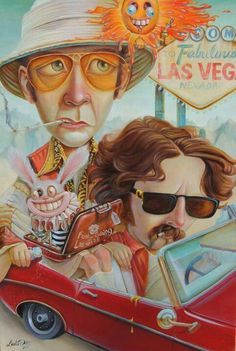 "e357ecfd4d ""Fear and Loathing in Las Vegas"" by artist Leslie Ditto"