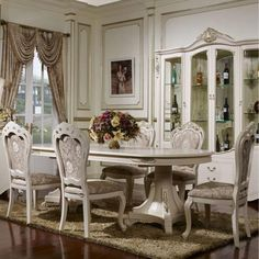 30 Best Oval Tables Ideas You'll Love - InteriorSherpa Circular Table, Oval Table, Dining Table, White Dining Set, Kitchen Cabinetry, Built In Storage, Table Legs, Interior, Architectural Features