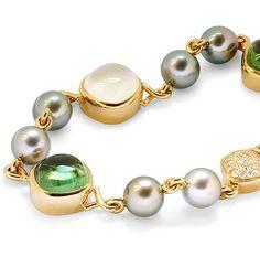 Gemstone and Tahitian Pearl Bracelet by Atelier Torbjorn Tillander, Finland