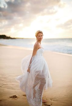 love the floaty, flowing skirt with the curve of the beach and billowing clouds behind