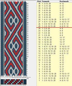 20 tarjetas, 4 colores, repite cada 24 movimientos // sed_1074a diseñado en GTT ༺❁