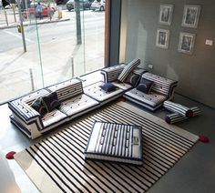The Mah Jong sofa by Roche Bobois, upholstered by Jean Paul Gaultier