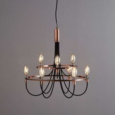 Modern Lounge lighting - Details about Luxury Copper Chandelier Ceiling Light Fitting 9 Lights Modern Metal Lighting Chandelier In Living Room, Rustic Chandelier, Vintage Chandelier, My Living Room, Living Room Lighting Ceiling, Hallway Lighting, Chandeliers, Lounge Lighting, Dining Lighting