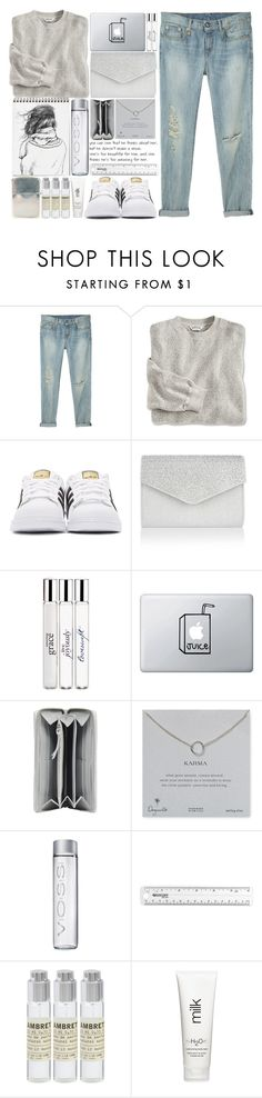 """""""Great Gray"""" by theapapa ❤ liked on Polyvore featuring R13, adidas Originals, Monsoon, philosophy, Balenciaga, Dogeared, Ugo Cacciatori, Le Labo and H2O+"""