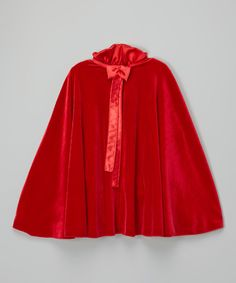 Look at this Red Velvet Cape - Infant, Toddler & Girls on #zulily today!