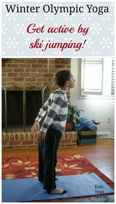 Winter Olympics Yoga sequence to get children moving and having fun, while learning about various sports and world cultures - by Kids Yoga Stories