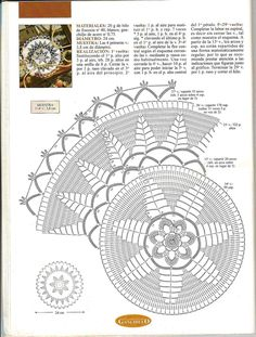 Decorative Crochet Magazines 63 - Gitte Andersen - Álbuns da web do Picasa Crochet Doily Diagram, Crochet Mandala Pattern, Doily Patterns, Crochet Chart, Crochet Stitches, Crochet Patterns, Crochet Books, Crochet Home, Easy Crochet
