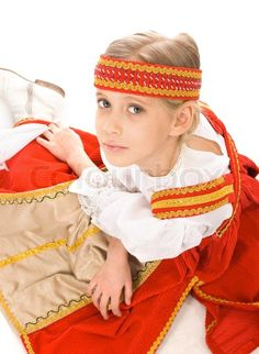 Stock photo ✓ 14 M images ✓ High quality images for web & print | Portrait of a young girl in Belarussian national dress