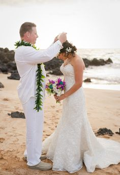 Hawaii! Married on beach! Not the traditional wedding!