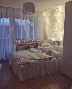 My dream bedroom! Cute Bedroom Ideas, Room Ideas Bedroom, Home Decor Bedroom, Dream Rooms, Dream Bedroom, Room Interior, Interior Design, Cozy Room, My New Room
