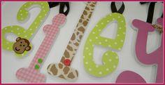 Nursery Letters for girls