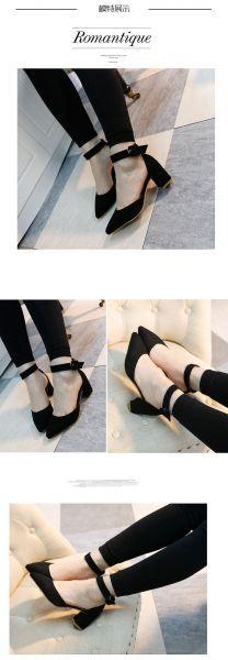 Mẫu hàng Giày da nữ gót vuông cá tính bảo đảm
