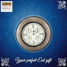Your Perfect Eid Gift !!!  Finally Eid is here. But in a dilemma of what to gift. Well we have the perfect solution for you.This beautiful round wall clock will make Eid all the more memorable.