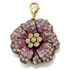 "Heidi Daus ""Cosmo Flower"" Crystal-Accented Charm - October at HSN.com"