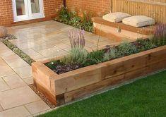 Awesome Modern Garden Architecture Design Ideas 07 Source by ninwan Back Garden Design, Modern Garden Design, Backyard Garden Design, Small Backyard Landscaping, Landscaping Ideas, Backyard Designs, Backyard Ideas, Modern Design, Mulch Landscaping