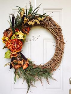 Each wreath is unique and a one of a kind piece. Each floral piece is hand placed so placement might vary slightly in size, texture and appearance.   The wreath makes the perfect gift or decoration fo
