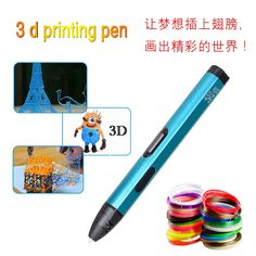 (69.90$)  Know more - http://ai5vo.worlditems.win/all/product.php?id=32780035453 - 3 D Pen Intelligent Printing Pen with LCD Screen Low Temperature Version USB 3 D Pens Metallic color Ultra-light Free Filaments
