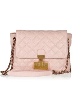 Marc Jacobs|The Large Single quilted leather shoulder bag #pink