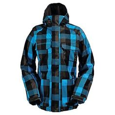 Burton system 10k #men's #snowboarding jacket in burlap #twill plaid,  View more on the LINK: http://www.zeppy.io/product/gb/2/252635646042/