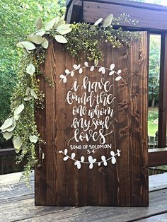 Size: 24 wide by 30 tall Details: This sign features a medium dark stain with white hand painted lettering and design. Guests can easily sign this wood sign with paint pens, markers, or sharpies and makes a great home decor piece after the wedding! Fall Wedding, Wedding Ceremony, Dream Wedding, April Wedding, Wedding Rehearsal, Home Wedding, Wedding Bride, Theme Color, Guest Book Alternatives
