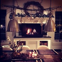 #fireplace #holiday  #decor