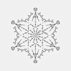 Crochet snowflake chart pattern by yunnara – Snowflakes World Crochet Snowflake Pattern, Crochet Stars, Christmas Crochet Patterns, Crochet Snowflakes, Thread Crochet, Christmas Knitting, Crochet Diagram, Crochet Motif, Crochet Doilies