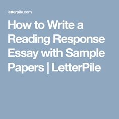 how to write a response paper example