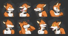 Commission: AJ's Expression Sheet by Temiree.deviantart.com on @DeviantArt