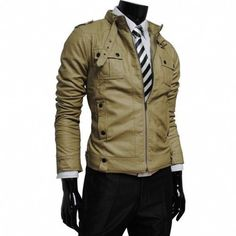 EHS New Soft Stylish Men's Lambskin Genuine Leather Jacket  N117 #NationalLeatherGoods #FlightBomber