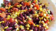 Black bean salad: the best EVER! Black Beans, Vegetables, Bean Salad, Recipes, Breakfast Ideas, Childhood Memories, Gluten, Easter, Food