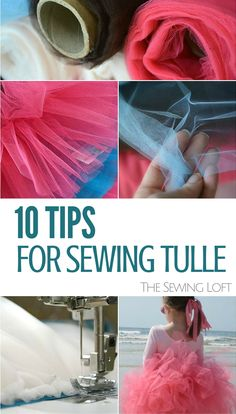 Sewing with tulle? Learn 10 tips and tricks to make sewing with this fine mesh fabric just a bit easier! Think of all the fun things you can make with tulle. Sewing Hacks, Sewing Tutorials, Sewing Crafts, Sewing Tips, Sewing Basics, Sewing Ideas, Sewing Blogs, Techniques Couture, Sewing Techniques