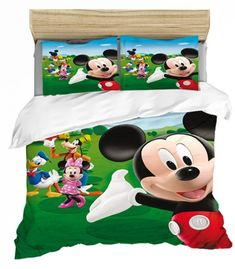 MICKEY MINNIE MOUSE FULL SIZE DUVET COVER WITH TWO PILLOW CASES 3 PC SET Minnie Mouse Bedding, Disney Bedding, Mickey Minnie Mouse, Full Size Duvet Cover, Kids Bedding Sets, Soo Jin, Kids Blankets, Soyeon, Disneyland Paris