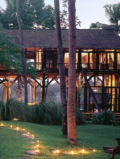 elevated bamboo home Bali