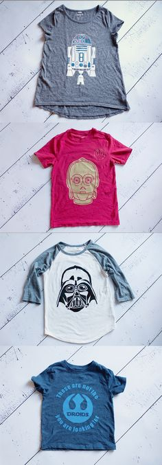 Star Wars shirt ideas for Disney World trip - Customize your shirts with heat transfer vinyl using your @silhouettepins