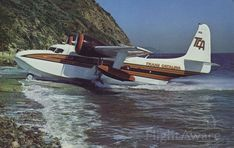 This page is dedicated to the famous Grumman Goose seaplane and all of the airlines that flew her on the short hop between the California Mainland and Santa Catalina Island. Grumman Aircraft, Amphibious Aircraft, Private Pilot, Private Plane, Airplane Flying, Flying Boat, Navy Trainers, Living On A Boat, Float Plane