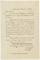 Form Letter from E. Cady Stanton, Susan B. Anthony, and Lucy Stone asking friends to send petitions for woman suffrage to their representatives in Congress, 12/26/1865. (National Archives, Record Group 233, ARC 306686)
