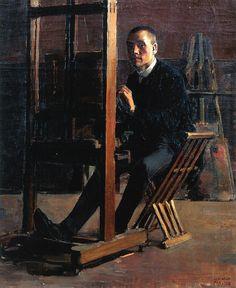 Gallen-Kallela, Akseli (1865-1931) - 1885 Self-Portrait (Private Collection) by RasMarley, via Flickr