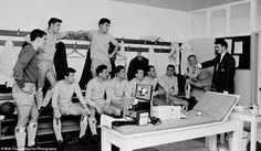 Jimmy Hill speaks to his Coventry players in this fabulous 1966 picture - Hill won the Div...