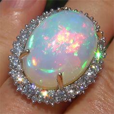 – pink opal and lapis lazuli. Opal Jewelry, Stone Jewelry, Diamond Jewelry, Gold Jewelry, Jewelry Box, Vintage Jewelry, Unusual Jewelry, Cute Jewelry, Best Friend Jewelry