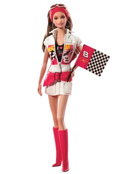 No longer available at Barbie.com but check out this doll: Dale Earnhardt, Jr.® NASCAR® Barbie® Doll #NASCAR #Barbie