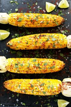 Grilled Cilantro, Lime & Smoked Paprika Corn on the Cob | The perfect summer side! #VEGAN