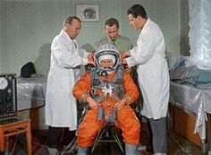 Valentina Tereshkova before lift-off